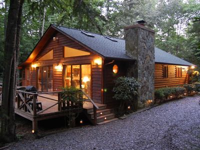 Photo for 3.35 Acre Creek Front ~ Free Wi-Fi ~ No Other Cabins in Sight