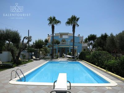 Photo for Amazing villa with swiming pool, completely surrounded by the garden, very close to the sea and the sandy beaches of Gallipoli