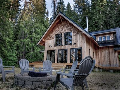 Photo for Secluded Industrial Rustic Cabin | Lake Views & Hot Tub