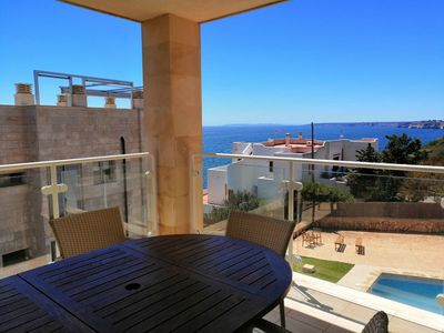 Photo for Central Luxury Apartment with Wi-Fi, Air Conditioning, Pool and Terrace with Sea View