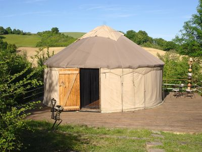 Photo for Yurt in a bucolic setting