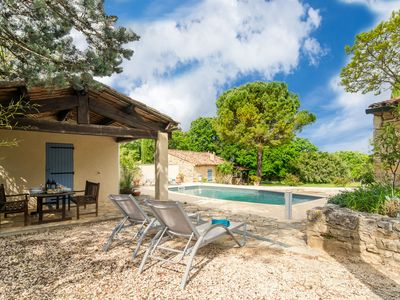 Photo for Charming farmhouse with private swimming pool and stunning views