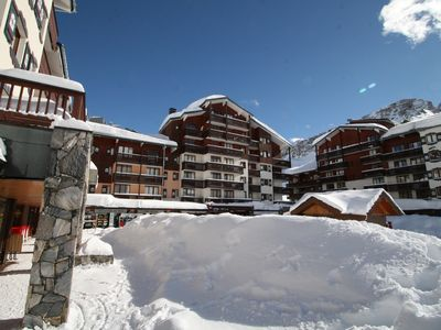 "Photo for Tignes 2100 - View tracks - Appart ""skis on"" classified *** - sleeps 160x200"