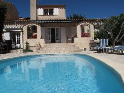 Photo for Sainte Maxime, villa quiet residential area private pool