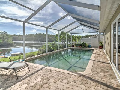 Photo for Waterfront Holiday House w/ Private Pool & Dock!
