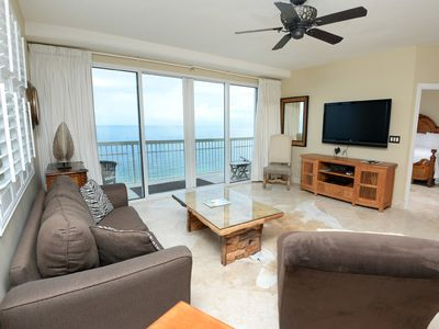 Photo for Penthouse oceanfront condo w/ shared pools, hot tub, gym, grill, & beach access!