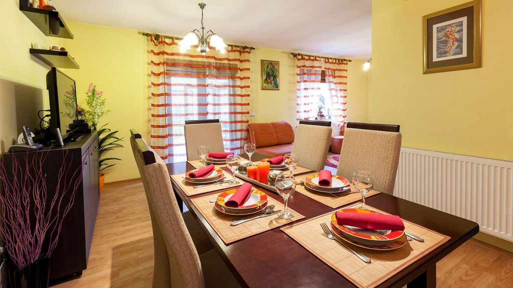 The comfortable and high quality furnished house in Zvečevo.