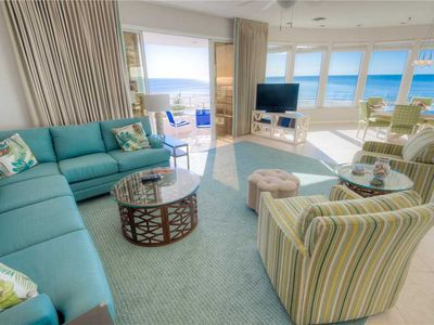 Photo for Direct Gulf Front Condo with Big August Savings! Island Paradise 4: 2 BR /2 BA