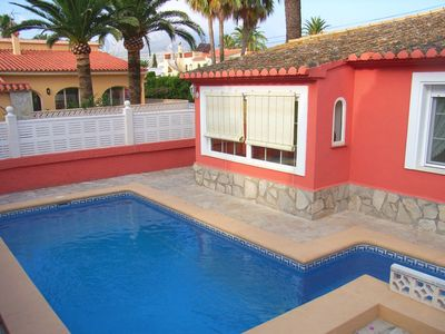 Photo for Beautiful villa with private pool, air conditioning, WI-FI, 2 min. to the sea