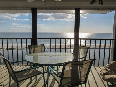 Photo for 2B/2B Penthouse On The Beach At Eden House. Palm Trees, Sea Breezes, Sweeping Gulf Views!