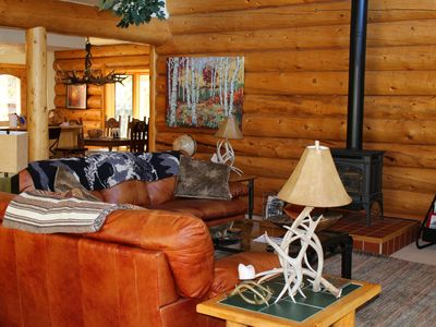 Photo for Cozy log home in Mount Crested Butte!
