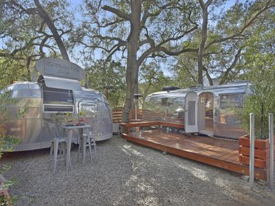 "Photo for ""Love Stream"" Two Vintage Airstreams on Animal Sanctuary in Topanga, CA"