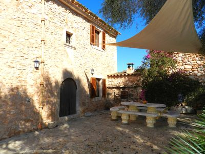 Photo for Rustic Mallorcan stone house with an enchanted garden