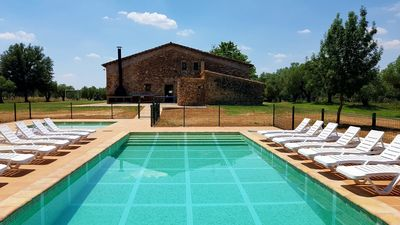 Photo for Mas Can Pirrac, typical Catalan farmhouse with private pool, garden, bbq..