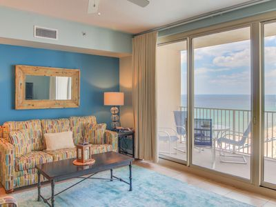 Photo for Beachy, stunning sunset views, no resort fees & reserved same-level parking!