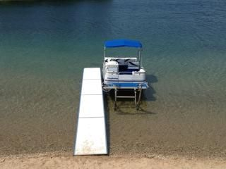 40 foot dock in extremely clean, sandy Silver Lake