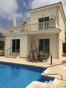 Photo for A modern, luxurious and stylishly presented 3 bed / 3 bath villa in Peyia