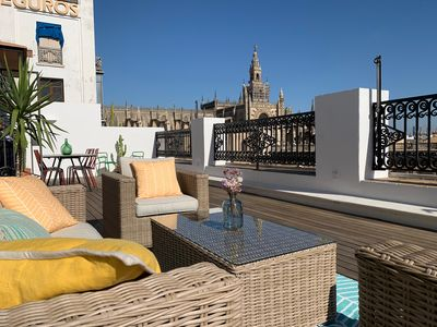 Photo for Penthouse with Large Private Terrace with Views Cathedral