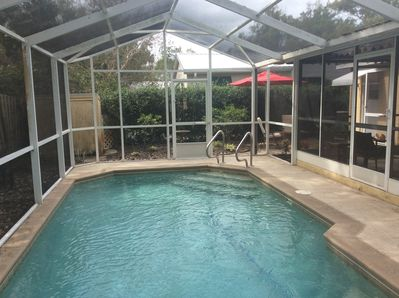 Enjoy the pool, heated to 85 degrees, from Oct. 1st through May 31st.
