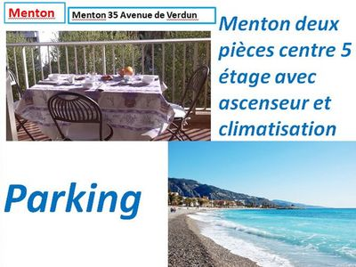 Photo for Menton two-room center 5 floor Beautiful air conditioning lift