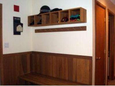 Bench and storage area
