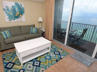 Photo for Picture-perfect gulf-front condo! Free DVD rentals! Waves Bar & Grill + Starbucks on-site!