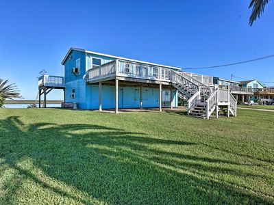 Photo for NEW! Oceanfront Sargent Beach Home w/ Dock!