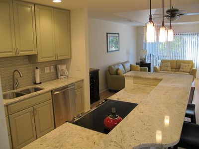 all granite kitchen countertops, stainless steel appliances