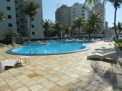 Photo for Apt Martim de Sá, 3 bed, swimming pool, barbecue, up to 8 people