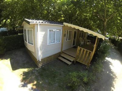 Photo for Camping Lou Comtadou *** - Loggia Premium mobile home + Air-conditioned 3 rooms 4/6 people