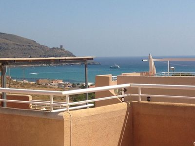 Photo for AZ02 Roof top terrace apartment, 2 bedrooms, 1 bathroom, very close to beach