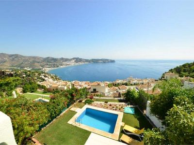 Photo for 2 bedroom apartment - Splendid sea view - garden, private pool, WIFI