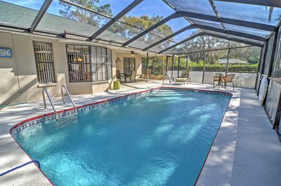 You'll love splashing around in the private enclosed pool.
