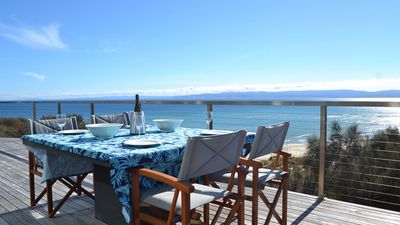 Enjoy outdoor dining with breathtaking views