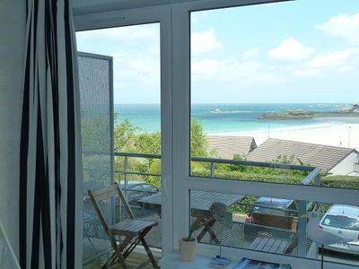 Photo for APARTMENT BEACH TRESTEL, TREVOU, GREAT VIEW Wed. COTE GRANIT WIFI