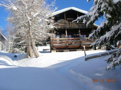 Photo for Large chalet at the heart of ski resort of Les Saisies