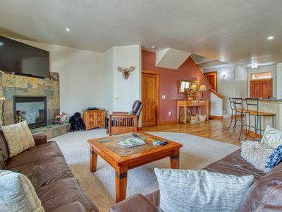 Photo for Spacious, riverside home w/ private hot tub - drive to Beaver Creek!