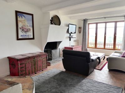 Photo for CHARMING Home With Sea View Terrace in Medieval Village Close to Everything