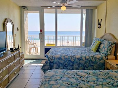 Photo for Economical-2nd Floor-Beach Front-Pirate's Cove Unit-Private Balcony-Community Pool-FREE HBO & WIFI!!