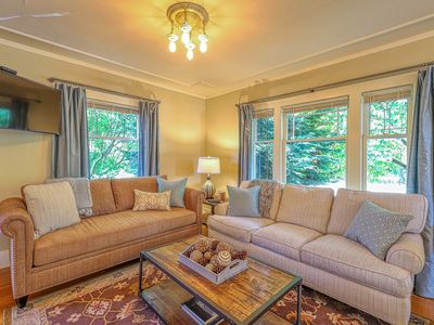 Photo for Stunning lakefront legacy home in Green Lake w/game room & wade pool access