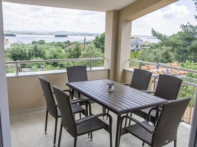 Photo for Two bedroom apartment with terrace and sea view Kraj, Pašman (A-14000-c)