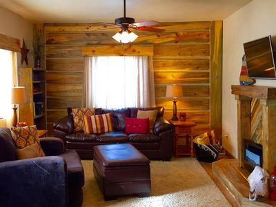 Photo for On the Mickelson Trail: Log Home Perfect for Families