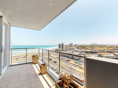 Photo for Ocean view condo with balcony, shared pool, free WiFi and walk to beach