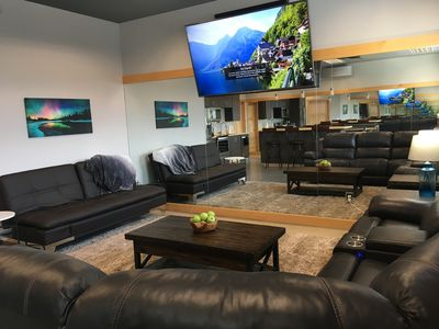 Living Room with TV and Futon