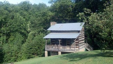 Photo for The Lawson At Pioneer Meadow Cabins - Antique Log Cabin - Perfect Honeymooner