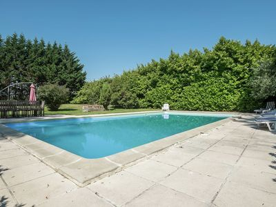 Photo for Castle with private tennis court and swimming pool, at 60 km from Bordeaux.