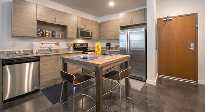 Eat-In Kitchen with Stainless Appliances
