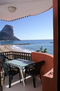 Photo for Holiday apartment right on the sandy beach with panoramic view of the sea