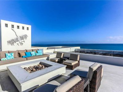 Photo for Magnificent Beachfront Villa, Pool, Spa, Rooftop Deck!