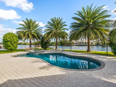 Photo for Delray Beach Gated Intracoastal Waterway Point Lot 5 bed 4 bath Private Compound